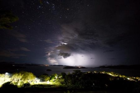 This was a storm the following day, 13th February 2008 taken from Hamilton Island looking towards the mainland and Airlie Beach.