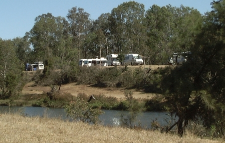 Campsite from Across the Pioneer River.