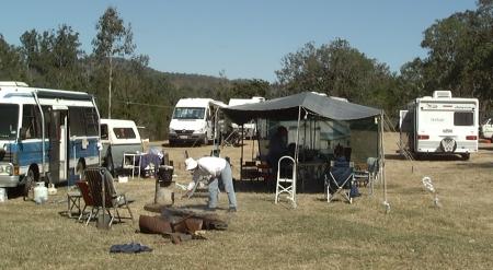 Campsite on Riverbank.