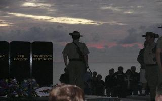 Dawn Service at The Cenotaph, Balgal Beach.