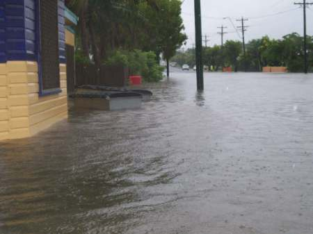 This is outside Donnis son, Errol, shop in Malcomsen Street North Mackay.
