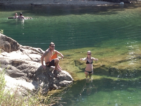 Jase & Kel at Paradise Waterhole.