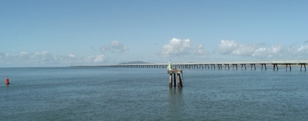 Monster Jetty at Lucinda.                                  It operates and is lit up and a constant hum runs 24/7.