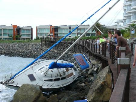 This boat came close to destroying the scenic walkway.