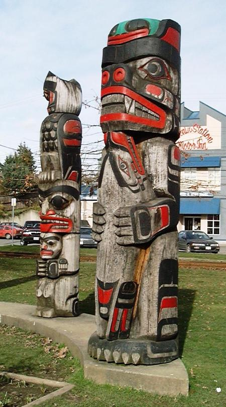 Two of Many Totem Poles.