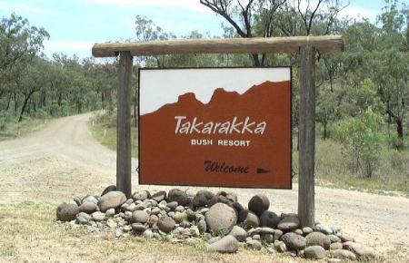 Entrance to Takarraka Bush Resort