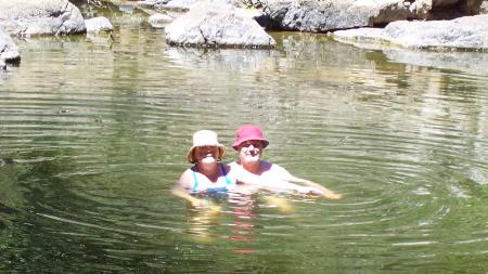 Frank & Donnis in the river.