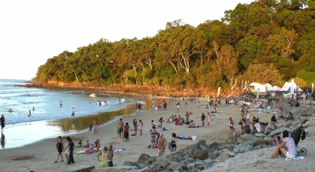 Noosa at Sundown after a day of longboard championships.