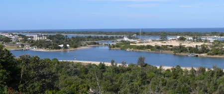 Overlooking Lakes Entrance. Victoria.