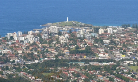Wollongong and Harbour from Mt.Kiera.
