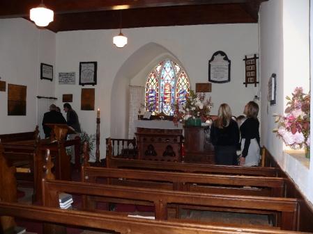 Altar at church at Ouse.