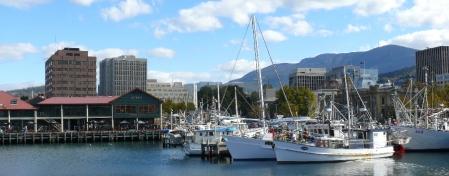 The harbpur, the city, Mt.Wellington.