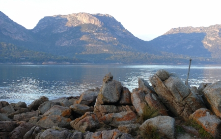 Dawn over Coles Bay, Cape Freycinet.