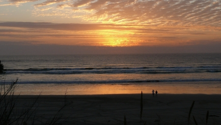 Sunset on Ocean Beach.