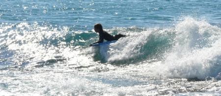 Boogey board on Bawley Point reef break.