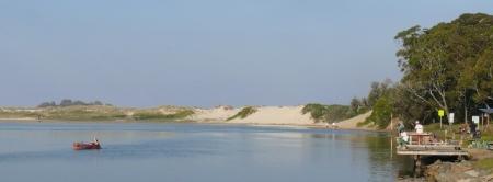 Fishermen love Lake Conjola.