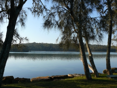 View of Lake Conjola from our back window.