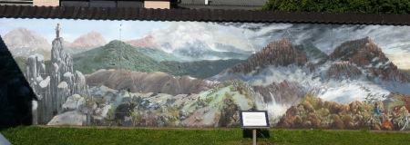 Mural collage of Cradle mountain area.