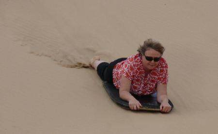 Donnis - First time sandboarding.