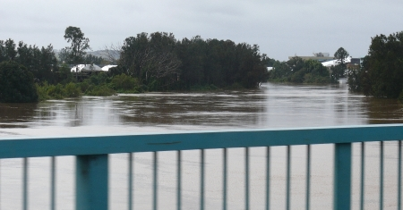 Wilson River in flood at Lismore.