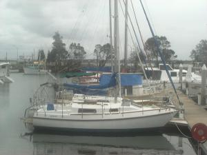 The good ship ASTARET at a Yamba berth.