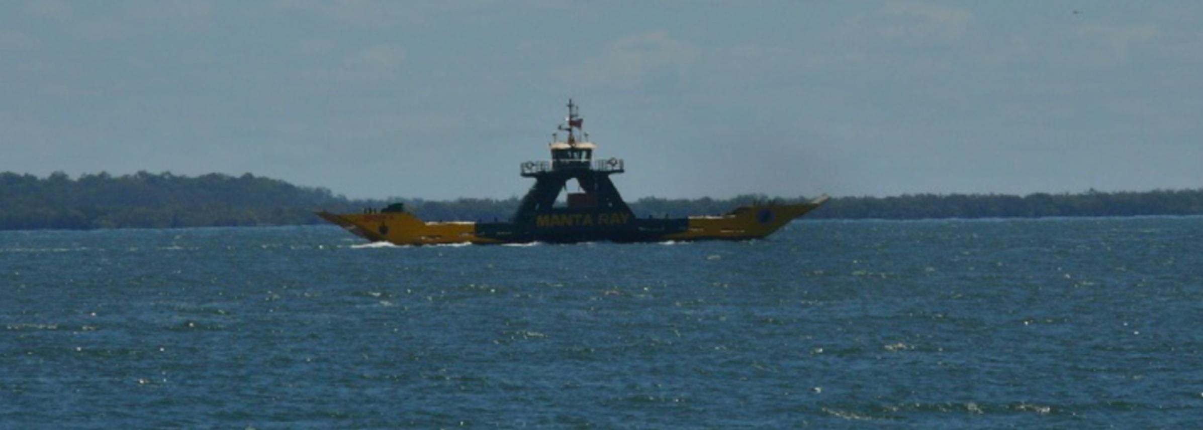 Walk On Barge To Fraser Island