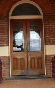 Bank doorway in Coolamon NSW> Now used as a Building Society office.