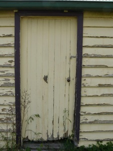 Side door of the garage of the house we are currently housesitting.