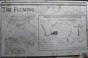 Sign explaining the flume.
