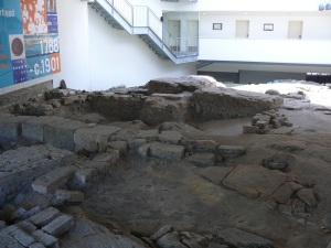Part of the Archaeological dig at 110 Cumberland Street.