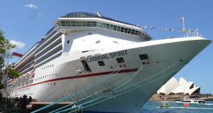 The Carnival Spirit Cruise Ship.