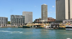 Circular Quay. The busiest maritime port within Australia..