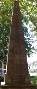 The Obelisk in Macquarie Place. All distances within the Colony were measured from this point.