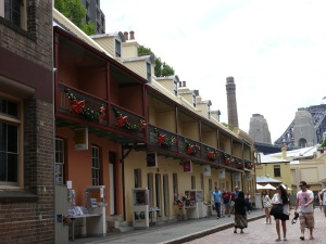 Terrace Houses in Playfair Street near Rocks Information Centre.