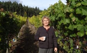 Donnis at a vancouver Island Winery.