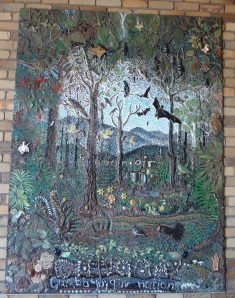 Mural made by local primary school at the Dorrigo Rainforest Centre.