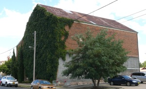 What was this overgrown building in the middle of town?