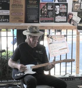 Slow pickin' guitar player.