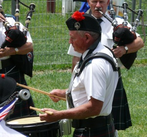 Drummer in the Armidale Pipe Band