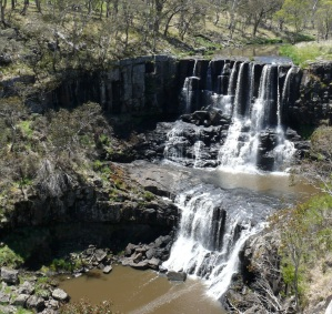 This is Upper Ebor Falls during the drought two months ago.