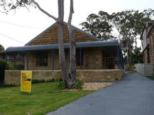 A house we viewed today is nade from sandstone.