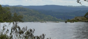 The Guy Fawkes River as it plunges over the lip of Upper Ebor Falls.