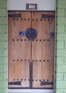 These double doors at Tumbarumba NSW were the entrance to a private residence within a commercial building.