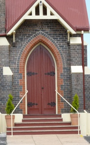 Another solid timber door on the Catholic Church at Guyra NSW.