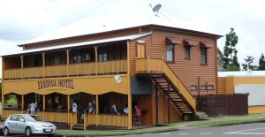 This iconic old pub in the Yandina Valley on the Sunshine Coast, Queensland, is only a hop step and a stagger from the Yandina Ginger Factory which probably sees more customers 99.99% of whom are sober.