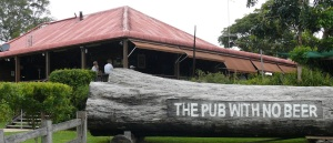 The Pub With No Beer is located in the hinterland  at Taylors Arm (not Taylors Arms) behind the town of Kempsey NSW. Especially popular as a tourist destination and providing a good menu and dining room for locals and visitors. It is a central focus point for all local activities.