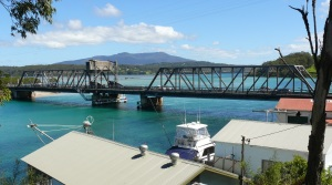 Narooma Bridge over Wagonga Inlet and Forsters Bay in the distance.