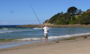Geoff fishing at PPB.