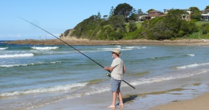 Ron fishing at PPB.