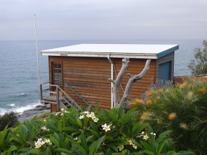 Garage perched above the cliffs at Wombarra.